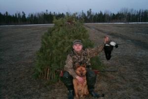 Где построить шалаш для охоты?